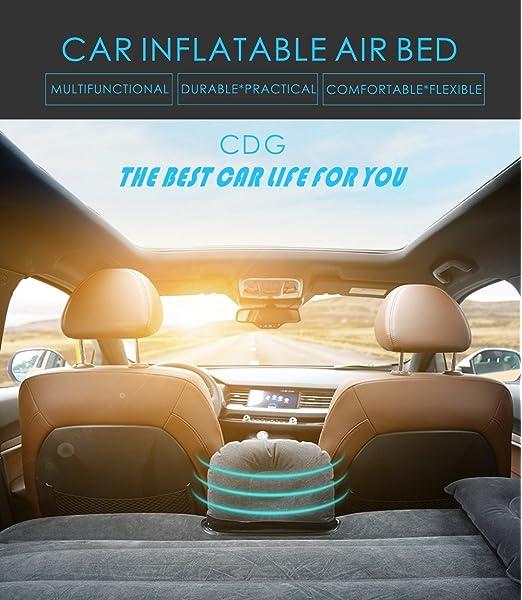 Kit colchón de cama y cojines inflables para coche con inflador ...