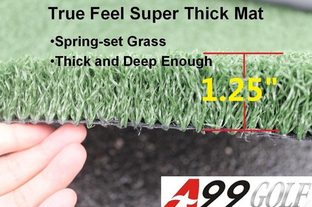 Golf Range True Feel Super Thick mat Golf Chipping Driving Practice Mat 59 x 39 1/2 x1 1/4'' by A99 Golf (Image #2)