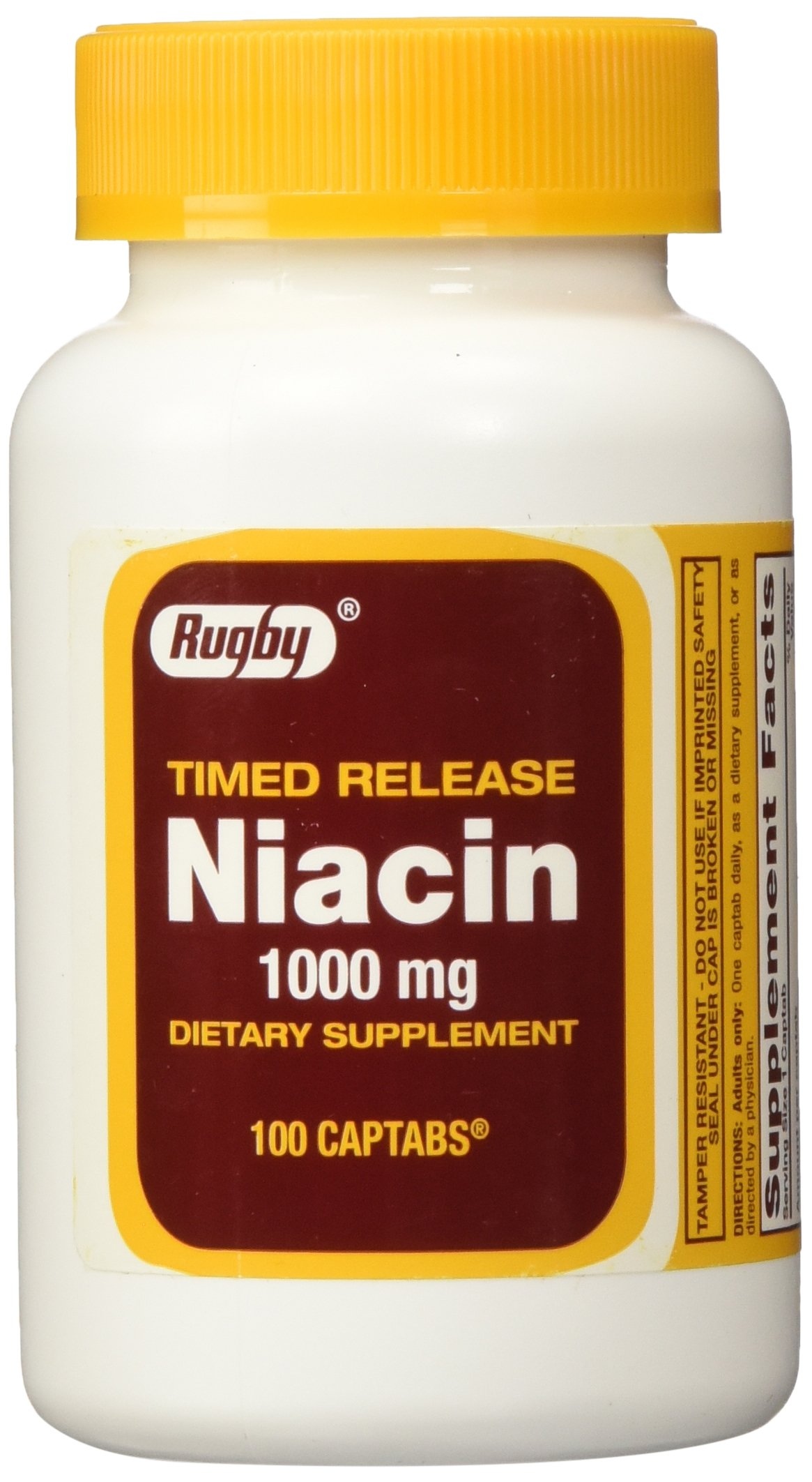 Rugby Niacin Timed Release 1000mg Tablets - 3 Pack (3) by Rugby