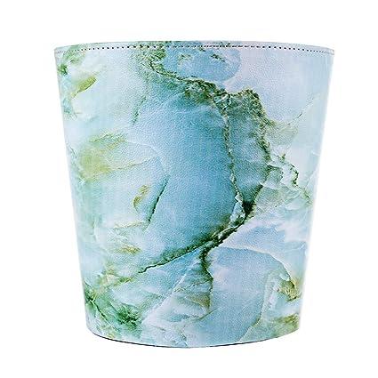 Incroyable RuiyiF Deskside Wastebasket Farmhouse Decorative Trash Can Without Lid, PU  Leather Waste Bin Bathroom Kitchen