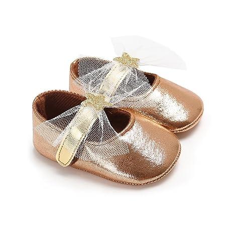 5fe275351 samber zapatos de piel sintética Bebé Aprendizaje Caminar Zapatos para bebé  suave parte inferior zapatos Bebé