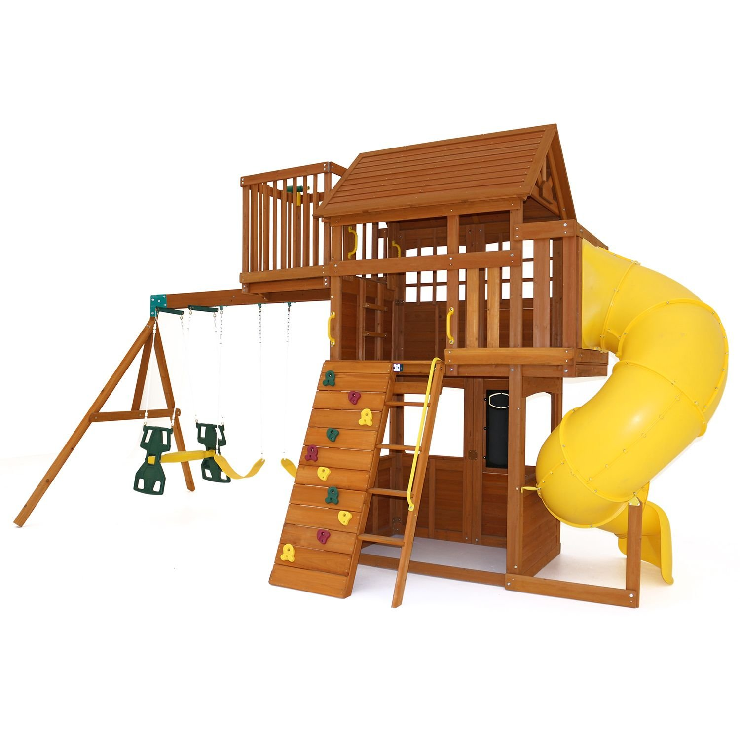 Amazon.com: Kids Outdoor Adventure Clubhouse with Twist N\' Ride Tube ...
