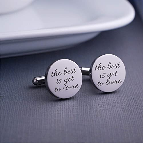 Amazon The Best Is Yet To Come Cufflinks Gift For Groom