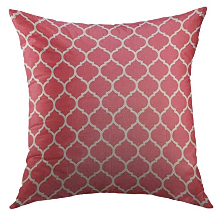 KENETOINA Decorative Throw Pillow Cover for Couch Sofa,Pink ...