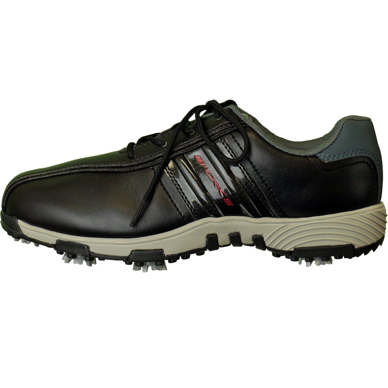 WORKS GOLF(ワークスゴルフ) AQUATECH 強防水ソフトスパイクゴルフシューズ メンズ WSGS-2001 ブラック/グレー B06WD5VN5F