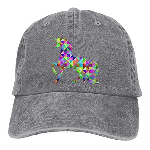 c3704778df6 Amazon.com  Geometric Animal Unicorn Hipster Unisex Denim Jeans Adjustable  Baseball Hat Hip-Hop Cap Gift For Men Women  Clothing