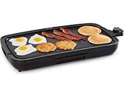 Dash Everyday Nonstick Deluxe Electric Griddle with Removable Cooking Plate for Pancakes, Burgers, Quesadillas, Eggs and othe