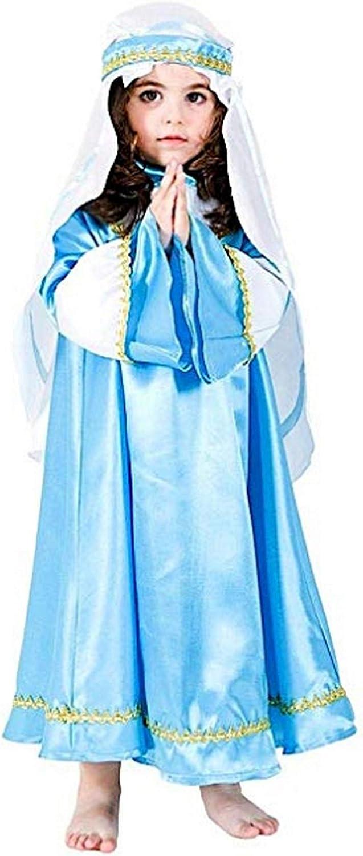 pequeños monelli Disfraz Virgen niña 7 – 8 años Vestido Virgen ...