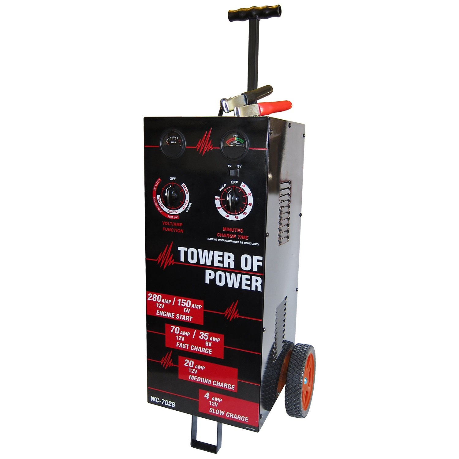 AutoMeter WC-7028 Tower OF Power Wheel Charger 12V 4/30/70 Charging 280 Amp Start 6V 40 Amp Charging 150 Amp Tower OF Power Wheel Charger