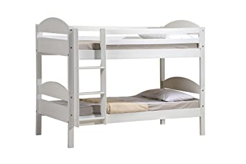 Etagenbett Holz Weiß : Design vicenza maximus etagenbett holz weiß single 3 ft: amazon