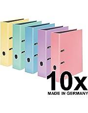 FALKEN 10 Pack pastellcolor – Archivador 8 cm de ancho DIN A4 Pastel de Color Varios