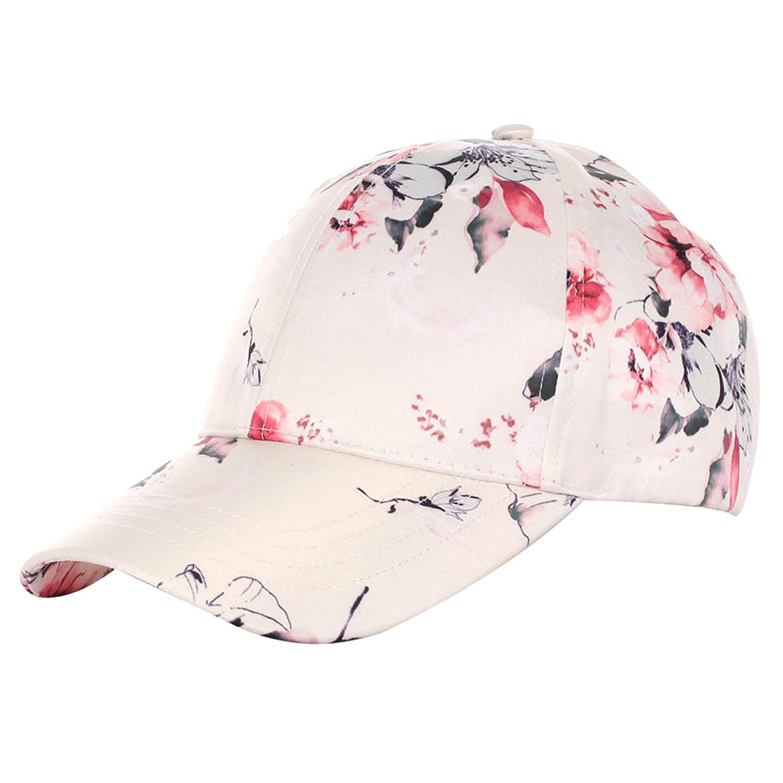 A O International Floral Print Baseball Hat Satin 191e58cef5b