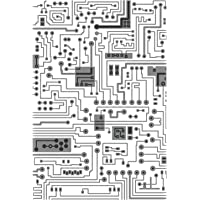 Sizzix Multi-Level Textured Impressions Embossing Folder Circuit by Tim Holtz, 665372, Multicolor, One Size