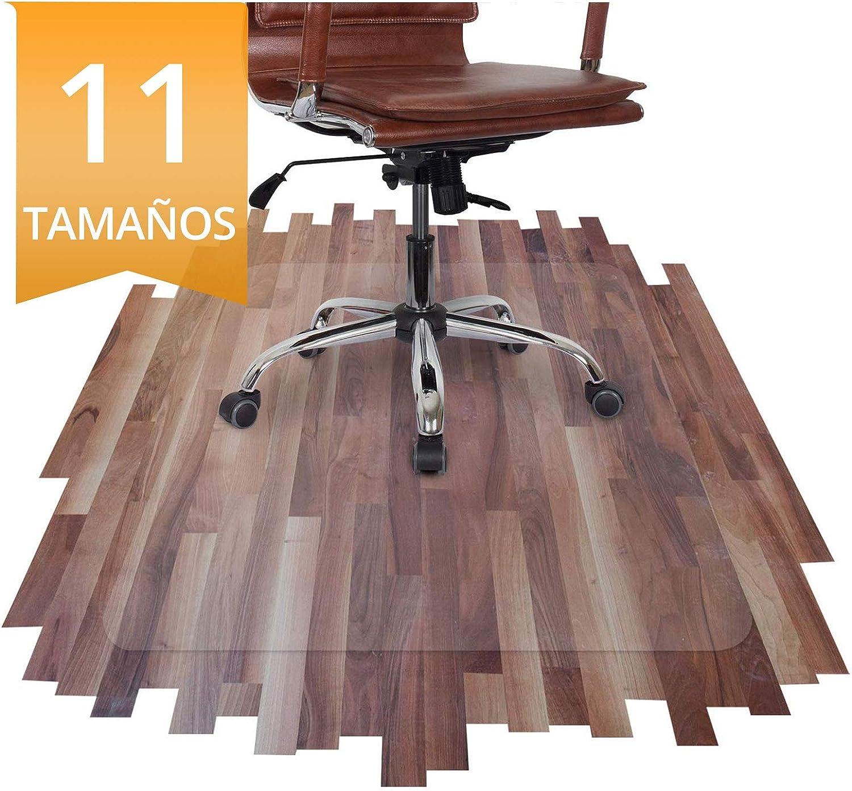 OfficeMarshal Alfombra de plástico Oficina - Protector de Suelo Transparente | Alfombrilla Suelo Duro | Pet | Muchos tamaños a Elegir (75x120 cm)