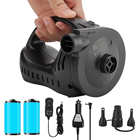 Amazon.com : OlarHike Rechargeable Air Pump for Inflatables, Portable Quick-Fill Electric Air Mattress Pump for Pool Floats, Rechargeable Inflator Deflator ...