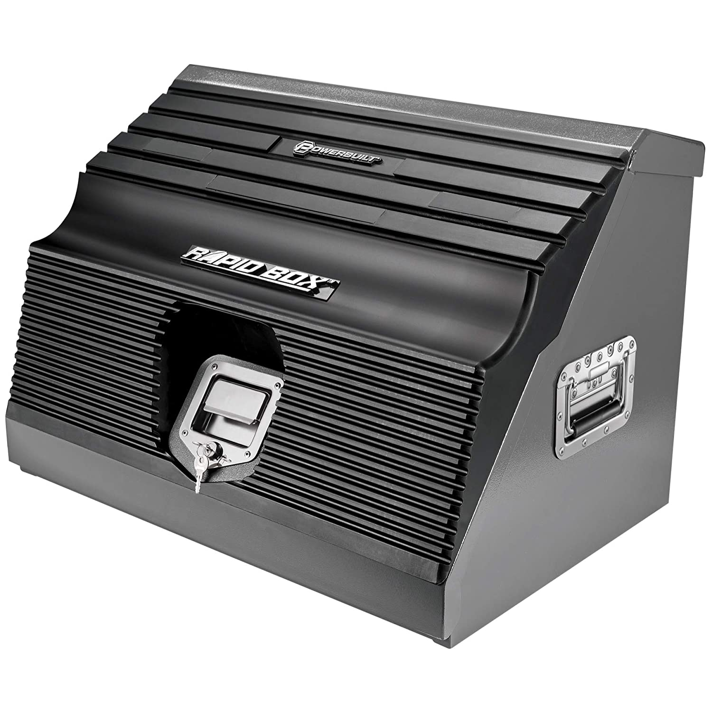 "Powerbuilt 26"" Rapid Box Portable Slant Front Tool Box Grey - 240111"