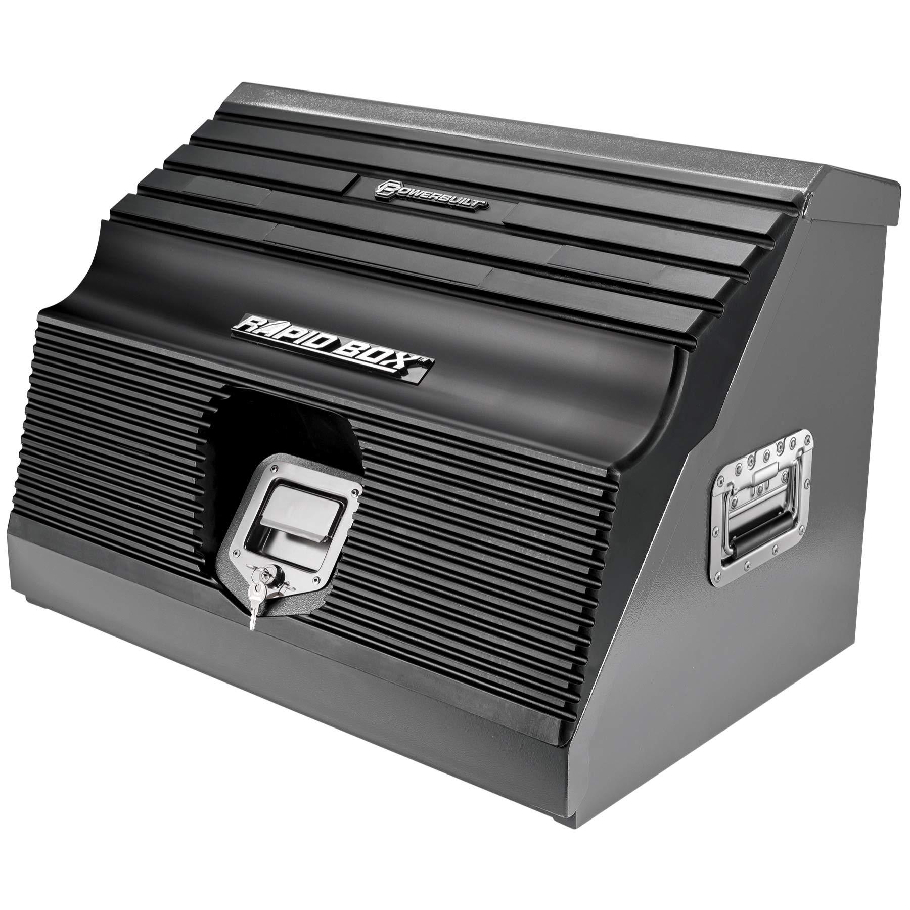 Powerbuilt 26'' Rapid Box Portable Slant Front Tool Box Grey - 240111