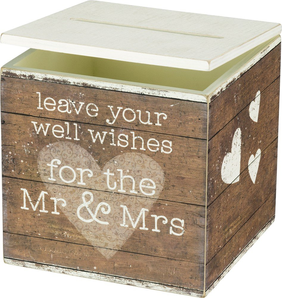 Primitives by Kathy Card Box Leave Your Well Wishes for the Mr and Mrs