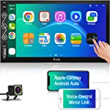 Double Din Car Stereo System Compatible with Apple Car Play and Android Auto, 7 Inches Multimedia Touchscreen Car Radio Recei