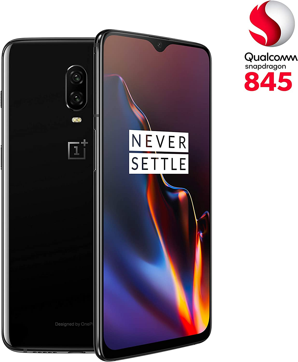 OnePlus 6T - Smartphone 8GB+128GB, color negro (mirror black ...