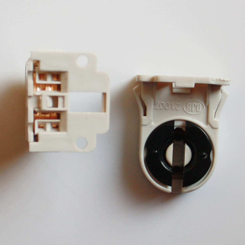 BYOPTO 2 Pcs Fluorescent/LED Tube Lamp bulb Snap-In Or Slide-On Holder Socket Fittings(For T5/G5 base) Beyond Optoelectronic