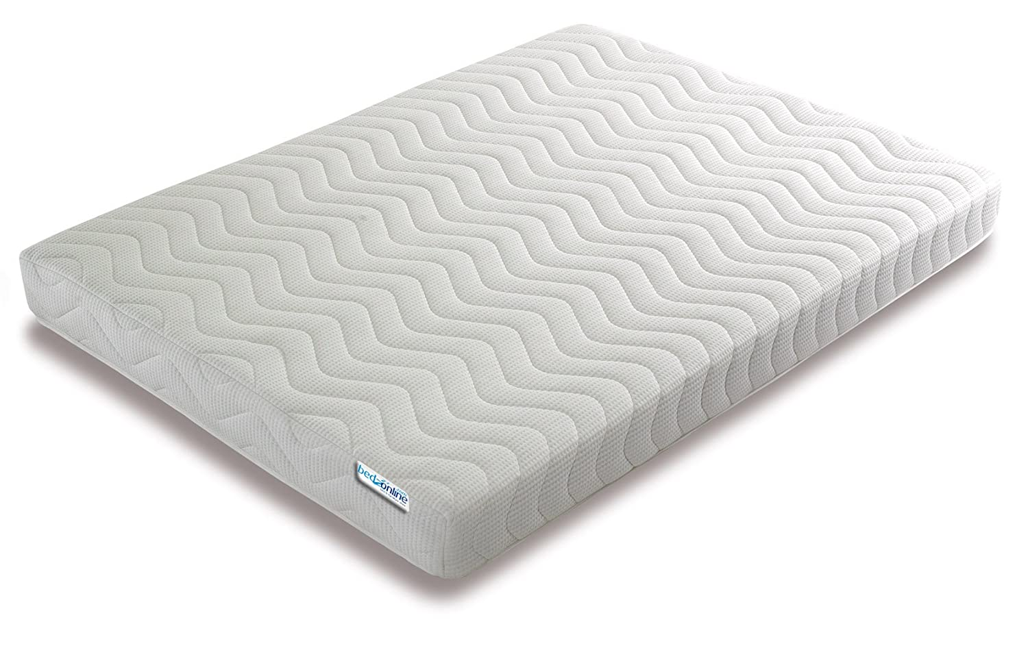 bedzonline Black Friday Memory Foam and Reflex 3 Zone Mattress with 2 Fibre Pillows Micro Quilted cool flex Cover, Double, 4 ft 6-inch, 135 x 190 cm PLATINUM ENTERPRISE UK LTD 46786MEMORY FOAM