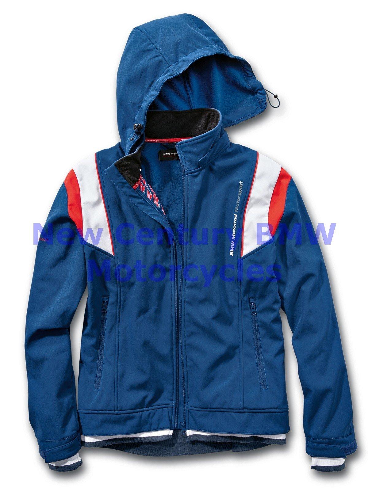 BMW Genuine Motorcycle Unisex Motorsport Softshell Jacket Blue/White/Red XL