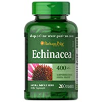 Puritans Pride Echinacea 400 mg for Health to Support Immune System, 200 Count