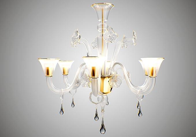 Lampadari Arte Di Murano.Lampadario Exclusive Classic 6 Luci Colore Cristallo
