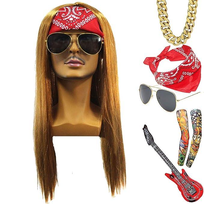 Amazon.com: Juego de disfraz de estrella de rock de los años ...