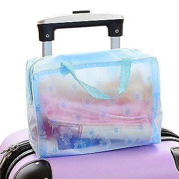 Iusun - 2 bolsas de maquillaje para el baño, neceser portátil para cosméticos de maquillaje