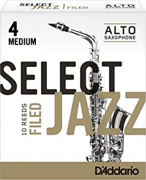 paquete de 10 Ca/ñas para saxo alto Rico Select Jazz corte americano resistencia 2//media