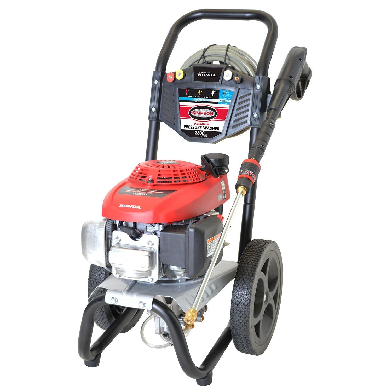Amazon.com : Simpson® MegaShot 2800 PSI 2.3 GPM Gas Pressure Washer Powered  By HONDA GCV160 : Garden U0026 Outdoor