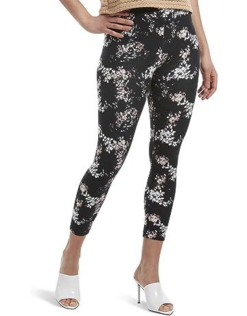2d58a36c4b29 HUE Women's Wide Waistband Blackout Cotton Capri Leggings, Assorted
