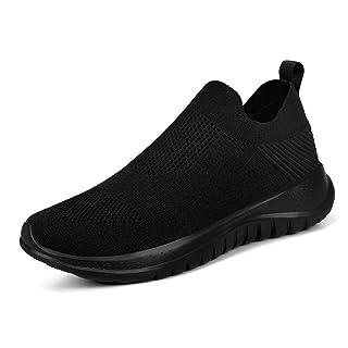 KIKOSOCKS Womens Shoes Sneakers Non Slip Walking Shoes Breathable Athletic Fitness Gym Jogging Running Tennis ShoesBlack 10 M US