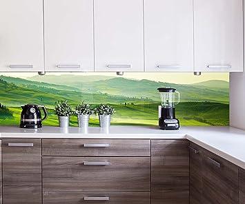 Küchenrückwand Grüne Toskana Nischenrückwand Spritzschutz Design ...