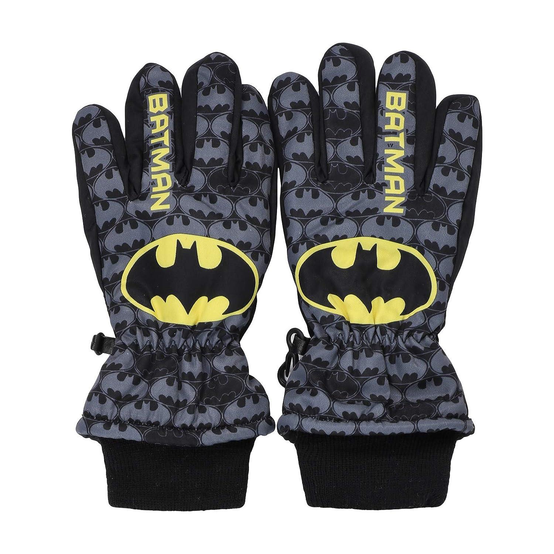 Guanti da Sci Neve Sport Invernali Con Polsino Elasticizzato Bambino DC Comics Batman