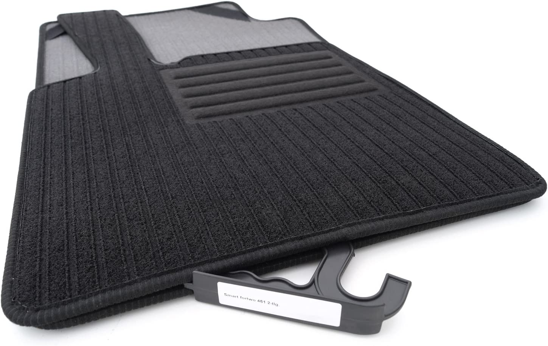 Kh Teile Fußmatten Rips Automatten Original Qualität Ripsmatten 2 Teilig Schwarz Auto