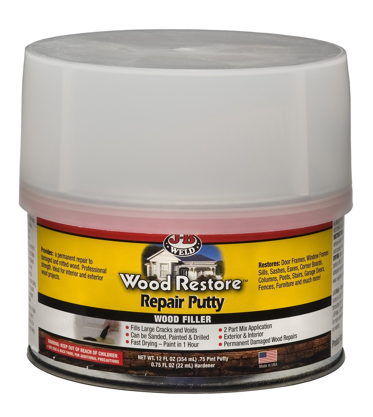 J-B Weld 40003 Wood Restore Repair Putty - 12 oz.