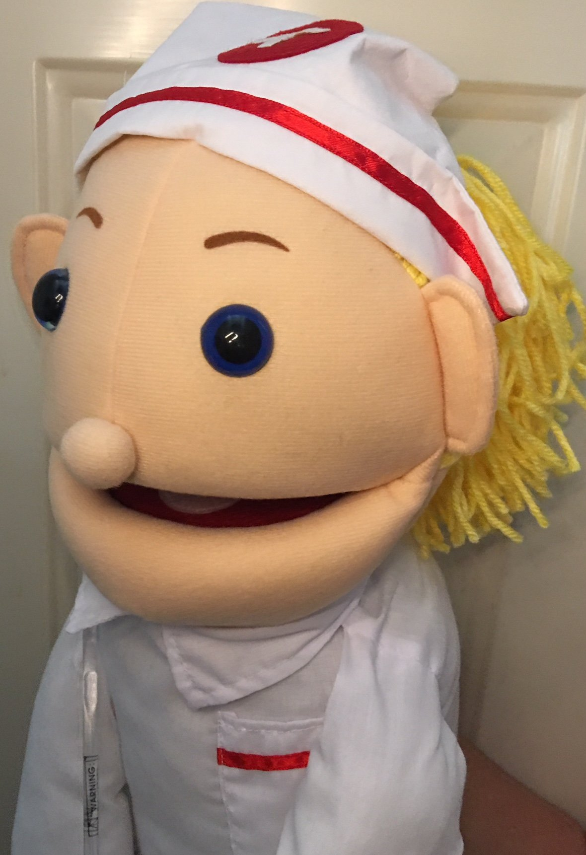 28'' Blonde Nurse Puppet, Full Body, Ventriloquist Style Puppet by Puppets4u (Image #1)