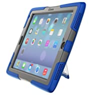 UZBL ShockWave Ultra-Protective Rugged New 2018/2017 iPad 9.7 Case with Stand and Screen Protector, Blue
