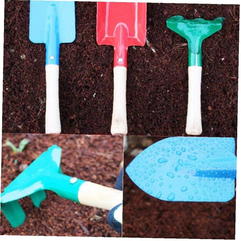 Berrywho Giardino dei Bambini Strumenti Giocattoli Giardinaggio Set Spade Leaf Rake Mini apprendimento allaperto per i Bambini 3PCS
