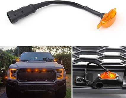Artudatech Luz LED para coche, 3 piezas de luz LED para parrilla F ...