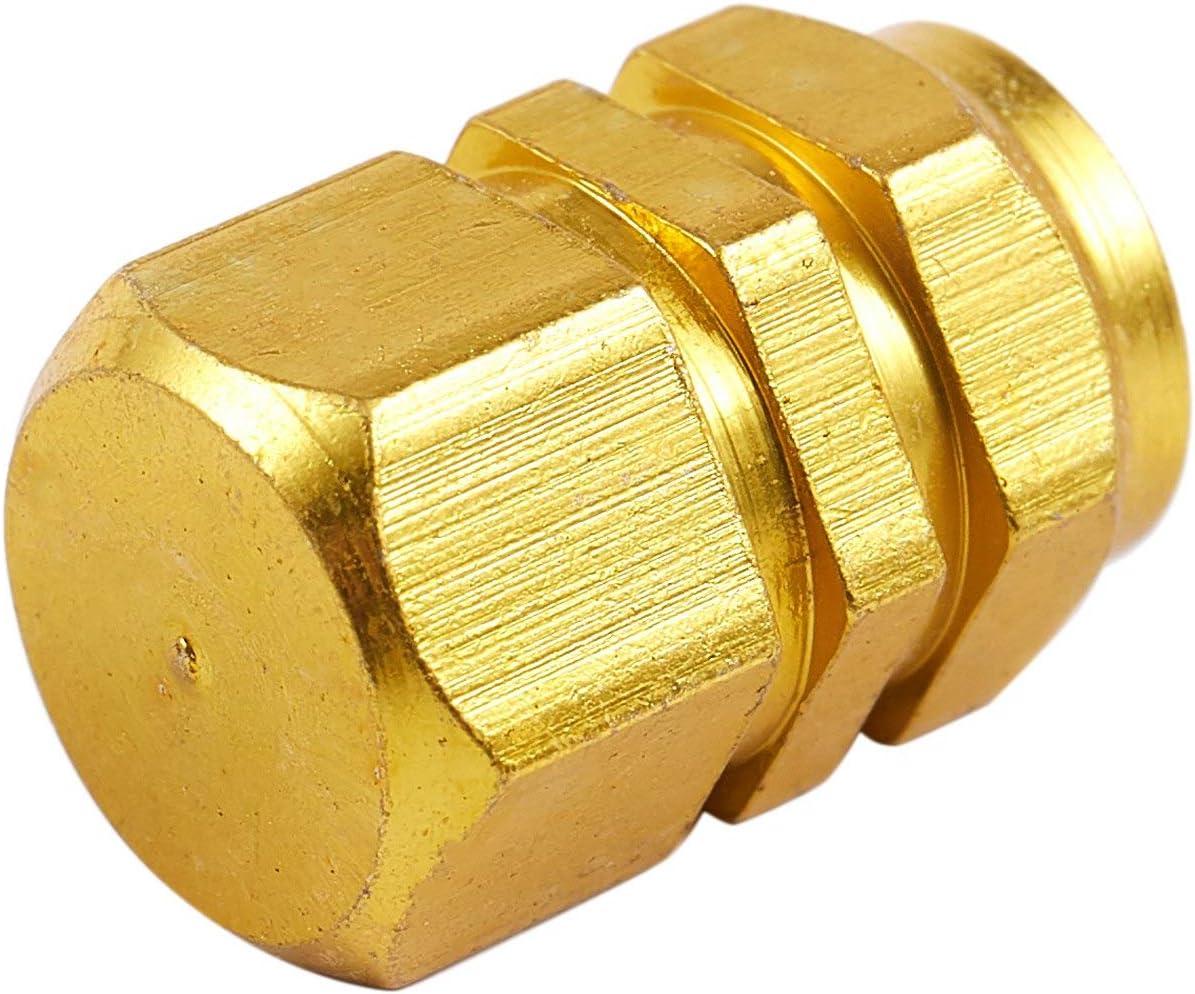ou Fonc/é Moligh doll Bouchon de Valve de Voiture en Alliage DAluminium en Forme DHexagone 4X