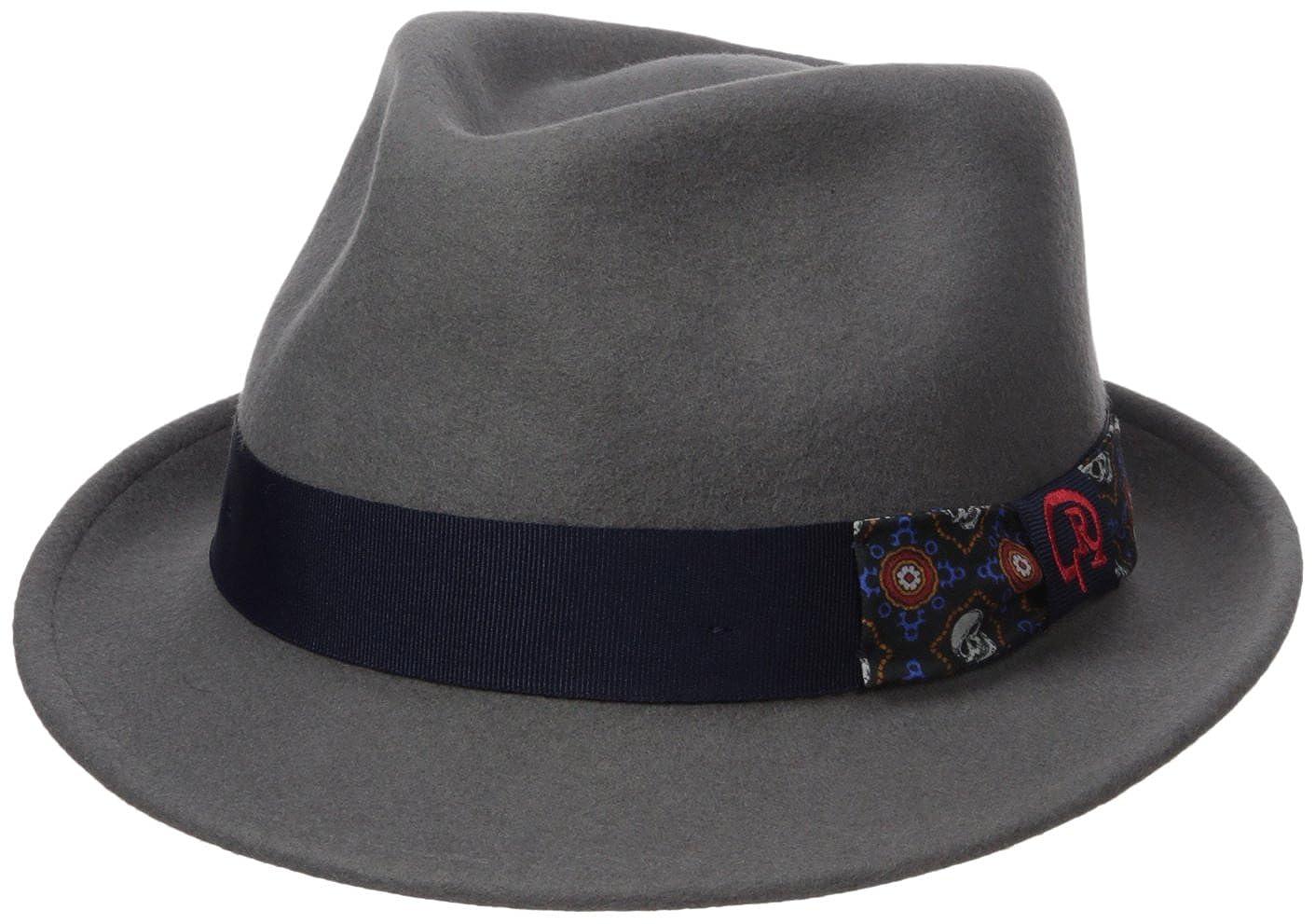 Robert Graham Headwear Men's North Elba Fedora Gray X-Large Henschel Headwear Child Code RG1761-27