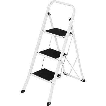 Amazon Com Delxo 3 Step Ladder Folding Step Stool