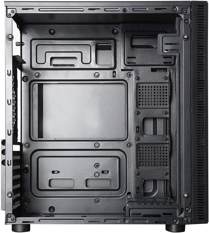 ionz KZ02 M//ATX MIDI Gaming Computer Case Tempered Glass Font and Side 3 x Dual Ring RGB Fans with Controller