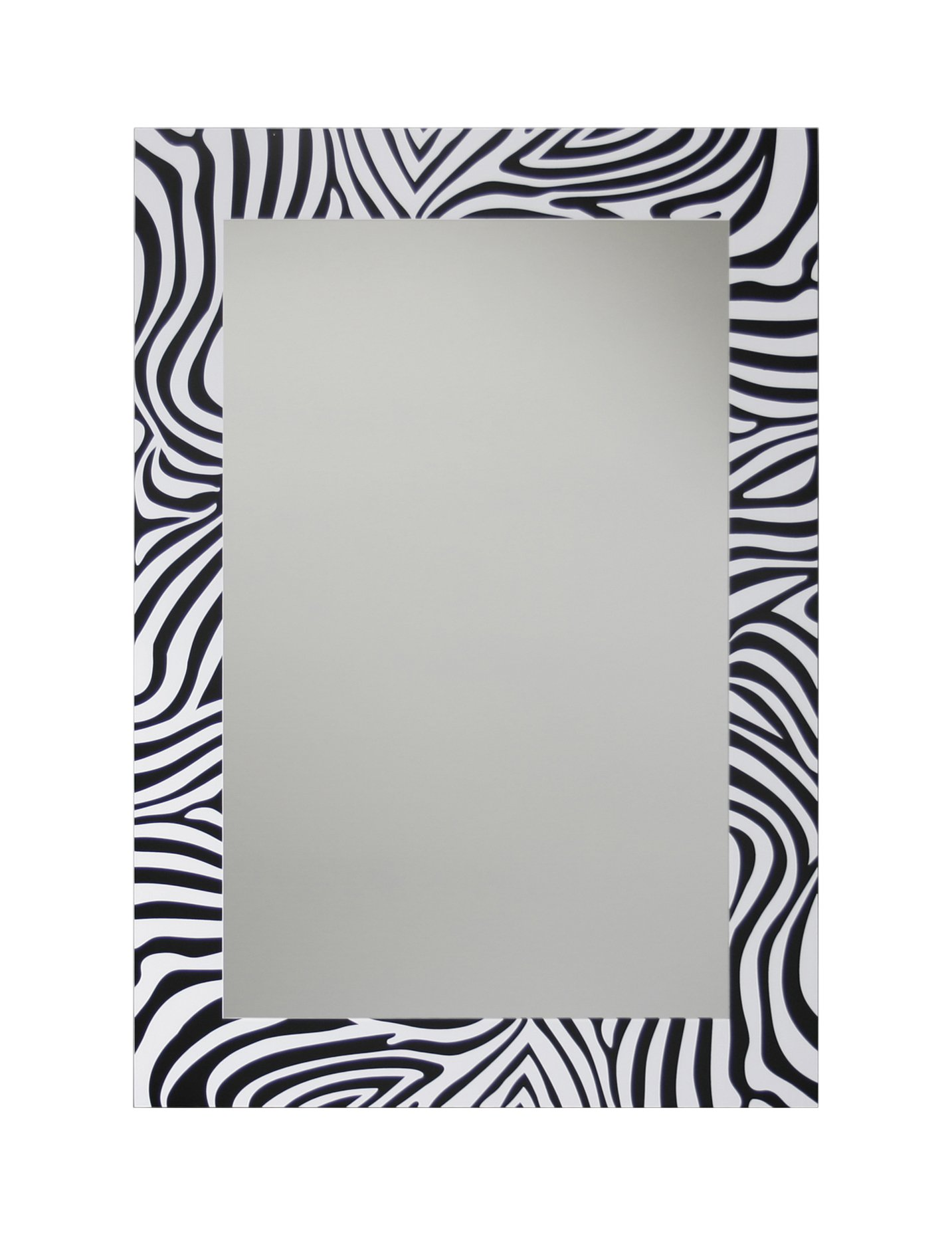 Leick Zebra Decorative Wall Mirror, 20'' x 28'' Black/White