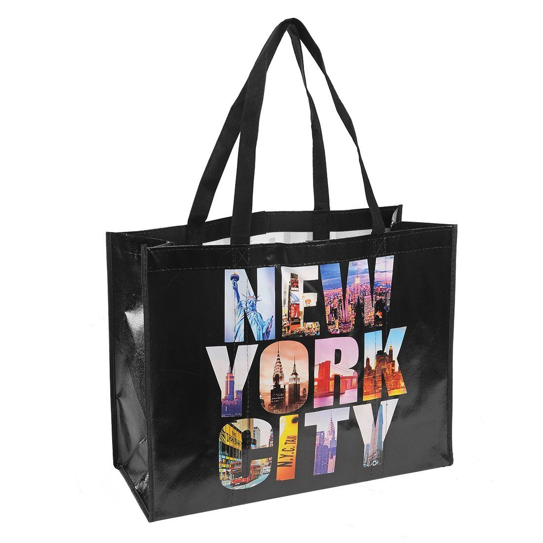 c161477fb6e1 Amazon.com  NYC Photo Reusable Shopping Tote Bag – New York City (Black) by  Universal Souvenir  Reusable Grocery Bags  Kitchen   Dining