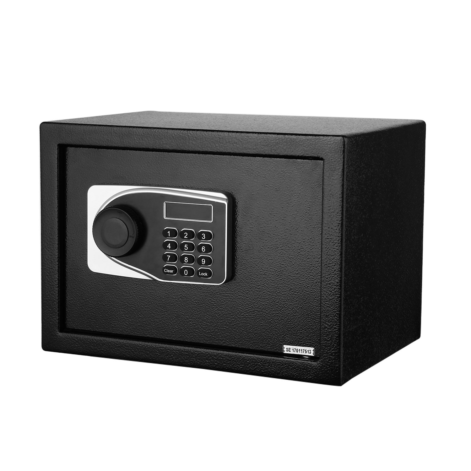LED Screen Safe Box,Anti-Theft Digital PIN Code Electronic Safe Locker for Documents, Cash & Passport (with Emergency Key)